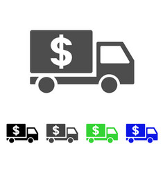 dollar delivery icon vector image vector image