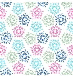 green pink blue colored birds seamless pattern vector image vector image