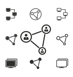 Network icon set vector image vector image