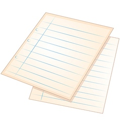 Sheets of empty papers vector image