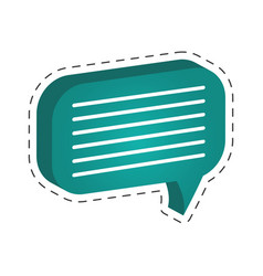 green speech bubble icon vector image