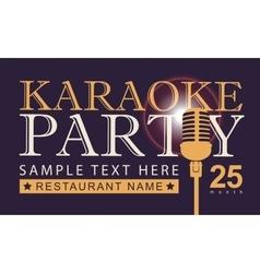 microphone for karaoke parties vector image vector image