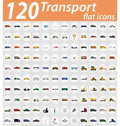 set transport flat icons 01 vector image vector image