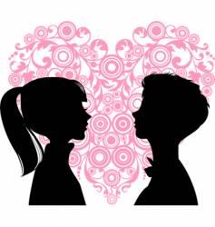 teens in love vector image vector image