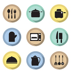 Utensils Icons set 9 vector image vector image