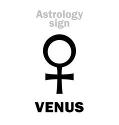 astrology planet venus female vector image