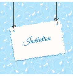 Blue vintage card design vector image vector image