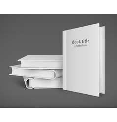 Book template with white vector image vector image