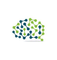 chemical brain vector image