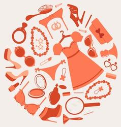 Fashion composition vector image