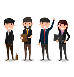 group of business people team employee and boss vector image