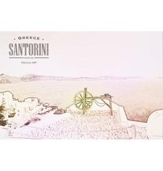 Oia village on the island of Santorini vector image vector image