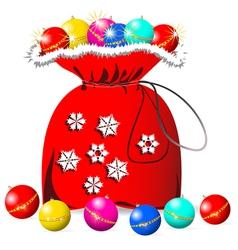 Santas bag vector image