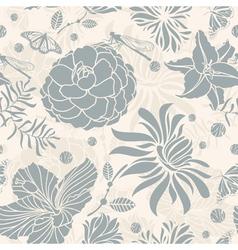 seamless retro floral vector image vector image
