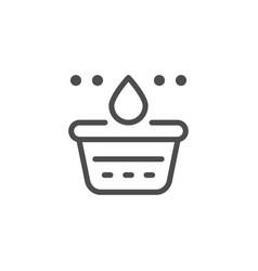 washing line icon vector image vector image