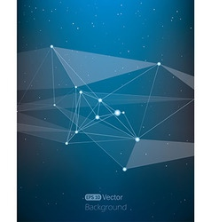 Abstract background with lines in space vector image
