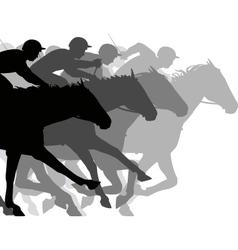 Close race vector image