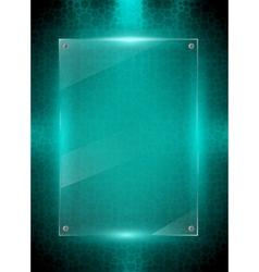 Digital green background vector image vector image
