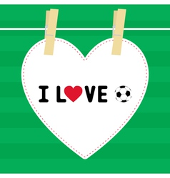 I love football9 vector image
