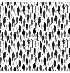 Large group of people seamless pattern vector image vector image