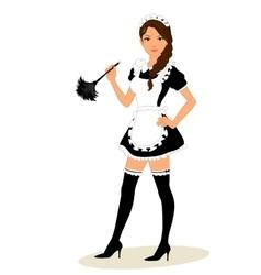 Maid costume vector image