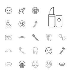 22 mouth icons vector