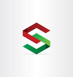 3d geometry letter s icon vector