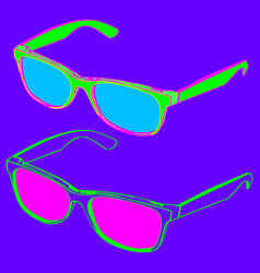 80s style sunglasses vector image