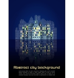 Abstract night city background vector image