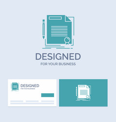 Agreement contract deal document paper business vector