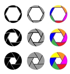 Aperture in nine different variants vector image