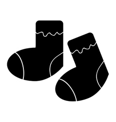 baby pair of socks vector image