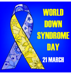 Background-down-syndrome-day vector