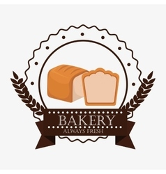 Bakery fresh bread label vector