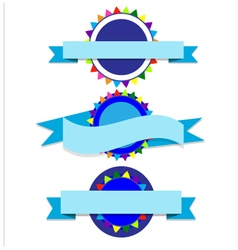 Banner blue party vector image
