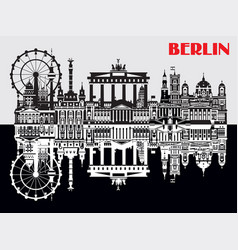 berlin skyline vector image