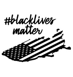 Black lives matter or i cant breatext on usa vector