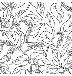 black pepper seamless pattern vector image