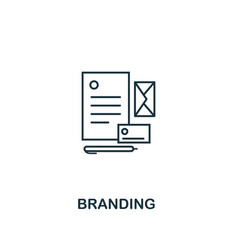 branding icon thin line style symbol from online vector image