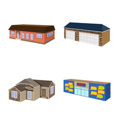 building and home icon set vector image