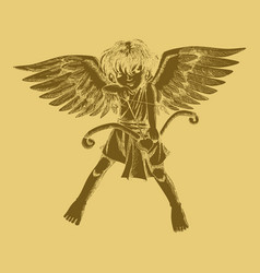 carved style a cupid vector image
