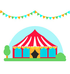 Circus show entertainment tent marquee outdoor vector