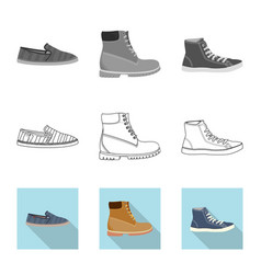 Design of shoe and footwear sign vector
