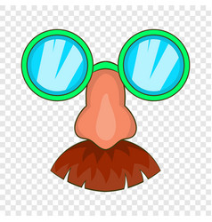 Disguise mask icon cartoon style vector