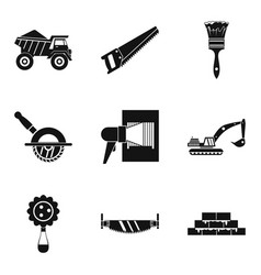 Dump truck icons set simple style vector