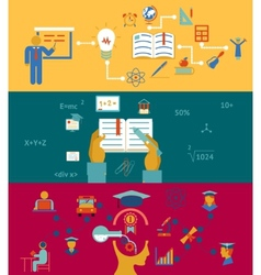 Education and learning banners vector