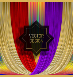 Eight-pointed frame on saturated colorful vector