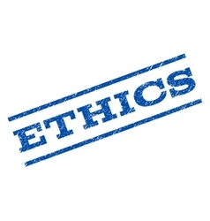Ethics Watermark Stamp vector image