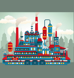 factory icons vector image