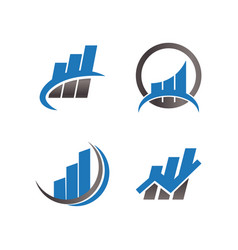 finance logo icon design template vector image